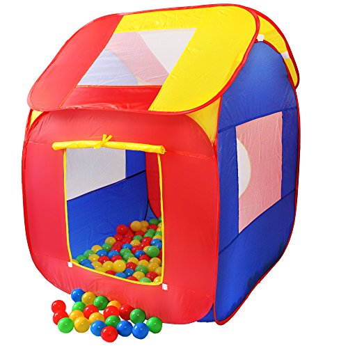 KIDUKU Tenda da Gioco per Bambini Pop up + 200 Palline + Borsa per Interni ed esternim