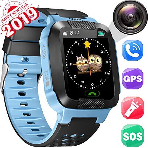 Smartwatch per bambini, localizzatore GPS, orologio per macchina fotografica, SOS, gioco di matematica,...