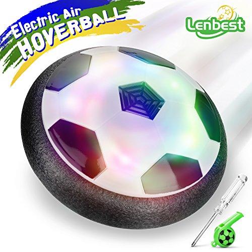 lenbest Hover Ball Calcio da Interno, Calcio Sportivo per Bambini con paracolpi in Schiuma e potenti luci...