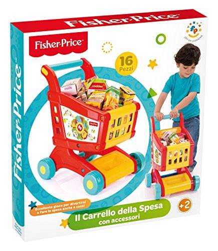 Grandi Giochi- Fisher Price Carrello della Spesa con Accessori, Multicolore, GG01806