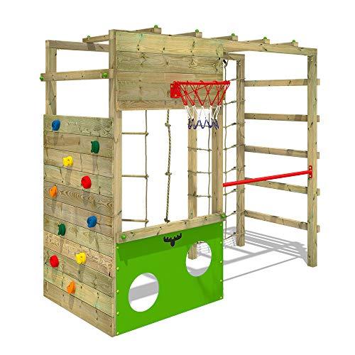 FATMOOSE Parco giochi in legno CleverClimber Scala svedese, Barre di scimmia, Struttura da gioco con...