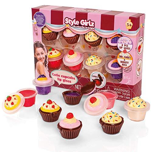 S&Li Cosmetics Cutie Cupcake Set da 8 Pezzi per Lipgloss