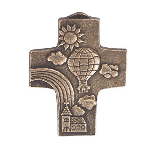Croce per comunione con arcobaleno, 10,5 cm
