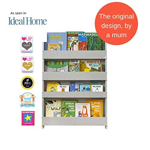 Tidy Books® - Libreria frontale   Libreria per bambini Montessori   Libreria a muro   Legno Bianco   115...