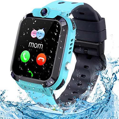 Smartwatch bambini Tracker LBS/impermeabile Orologio Smart Phone LBS Anti-perso con Chat Vocale Sveglia...