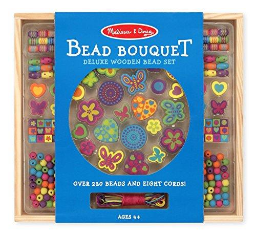 Melissa and Doug Kit creativi in legno Set di perle - Deluxe