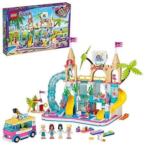LEGO Friends Divertimento Estivo al Parco Acquatico, Playset con 4 Mini Bamboline, Giocattoli per Bambini...