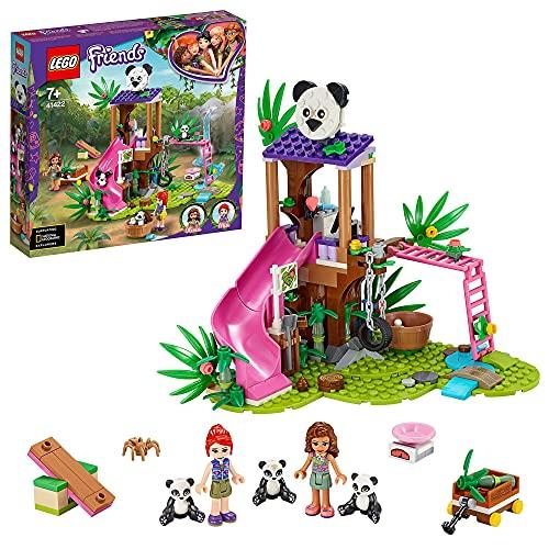 LEGO Friends La Casetta sull'Albero del Panda, Giocattolo per Bambini con 2 Mini Bamboline e Figure di...