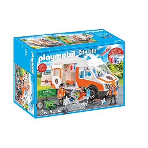 Playmobil City Life 70049 - Ambulanza con Lampeggianti e Sirena, dai 4 anni