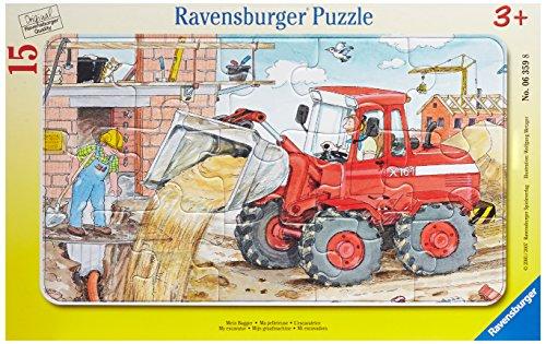 Ravensburger 06359 La mia ruspa- Puzzle incorniciato da 15 pezzi