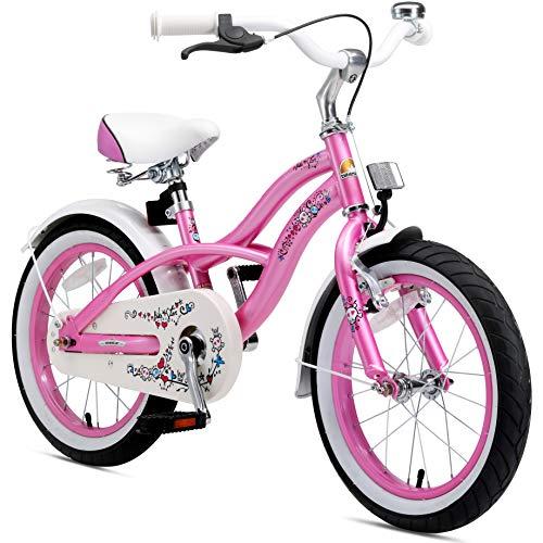 BIKESTAR Bicicletta per Bambini da 16 Pollici in Rosa | Freno a Pattino e Freno a retropedale | da 4 Anni...