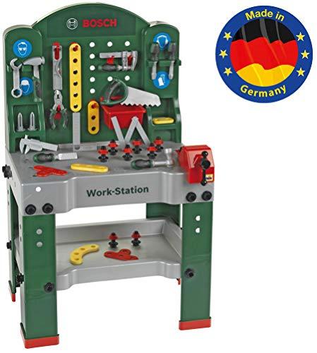 Theo Klein 8580 Work station Bosch, 44 pezzi, Banco da lavoro incl. piano di lavoro con funzione di...