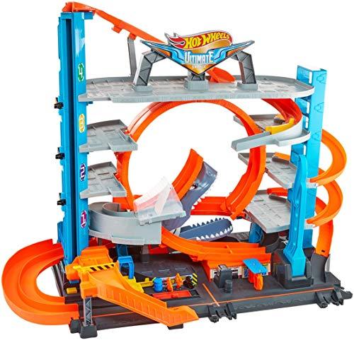 Hot Wheels - Garage delle Acrobazie Playset con Pista Connettibile per Macchinine, Loop a Doppia Corsia,...