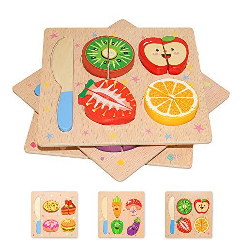 Puzzle in Legno per Bambini 3D Giocattoli Prescolare Educativo Giochi Set Blocchi Giocattoli Montessori...