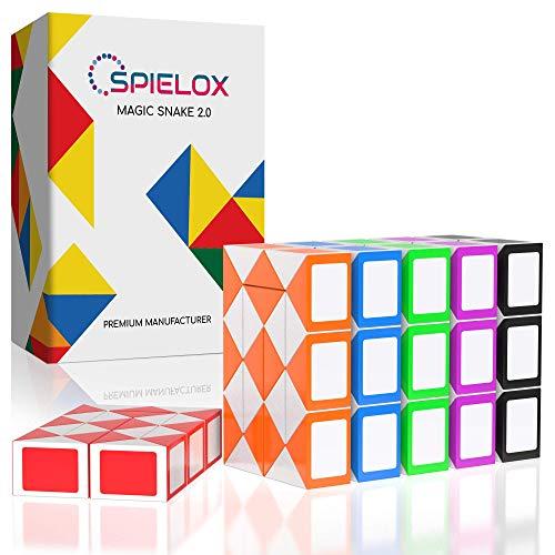 SPIELOX Magic Snake I 24 blocchetti I Mini gioco di Knobel Adulti e Bambini I Stimola la creatività e la...