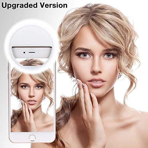 Selfie Luce [New Release] Macro Ring Light Portatile ricaricabile Selfie Ring Light Outdoor Webcast...