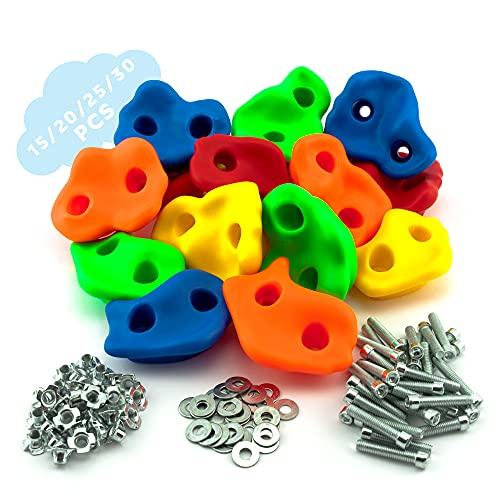 GO!elements Prese Arrampicata per Bambini Set da Esterno incl. Materiale di Fissaggio | Pietre per...