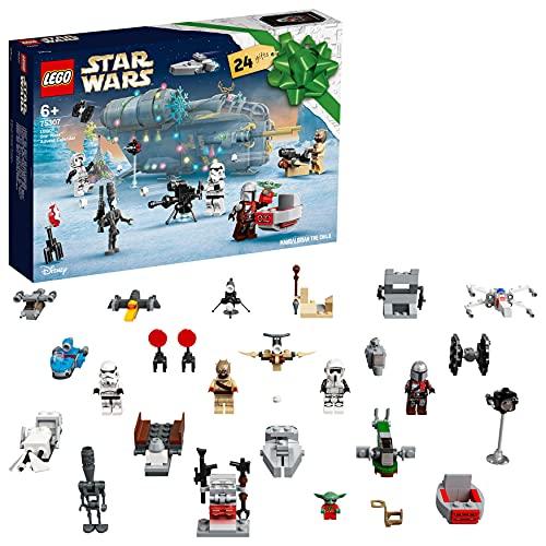 LEGO Star Wars Calendario dell'Avvento 2021, il Regalo Natalizio Mandaloriano per Bambini dai 6 Anni in...