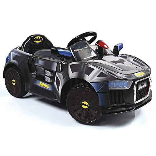 Hauck Toys Auto Elettrica per Bambini - Macchina Batmobile elettrica per Bimbi con LED, Cintura e...