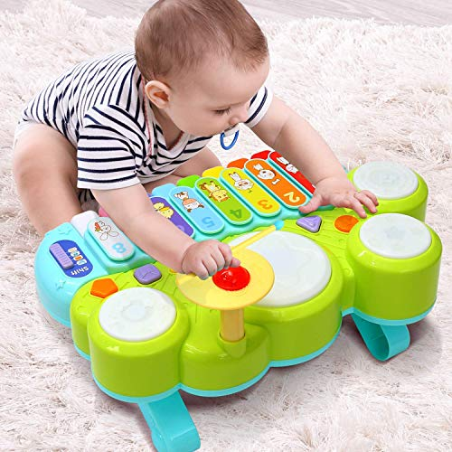 Strumenti musicali per bambini Ohuhu, set musicale percussioni ritmiche da 20 pezzi per bambini Toy...
