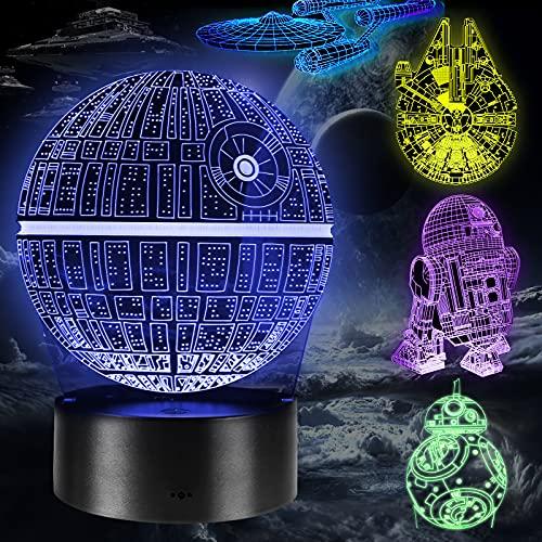 Lampada Regalo Perfetto, 16 Colori Dimmerabile Lamp Illusion con 5 Modelli Telecomando, Luce Notturna per...