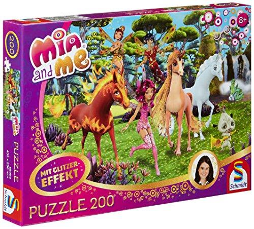 Schmidt Spiele 56069 - Puzzle Glitterato Mia e Me: a Centopia, 200 pz.