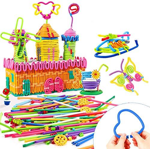 Peradix DIY Costruzioni Giochi - Creativo Bastoncini da Costruzioni(111 pezzi) - Colorati Bastoni Morbidi...