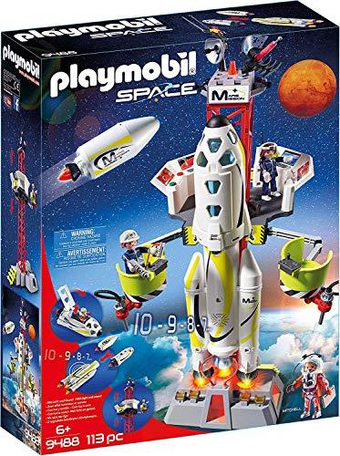 Playmobil Space 9488 - Razzo Spaziale con Rampa di Lancio, dai 6 anni