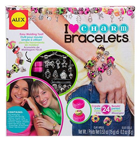 Alex 736L-5 Crea Bracciali Ciondoli e Perle per Bambini, Multicolore