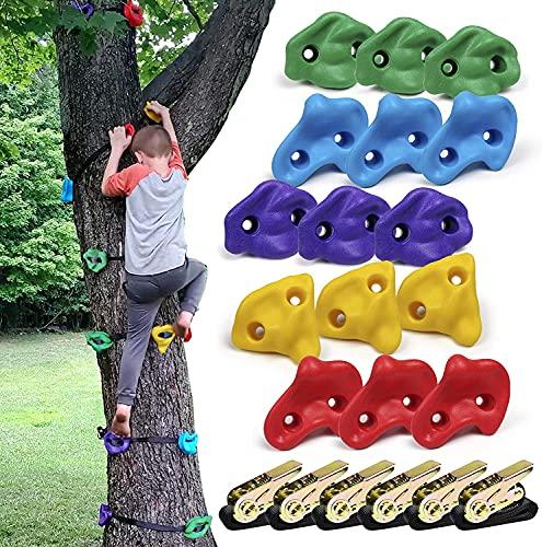 CHAIRLIN, set di 6 cinghie a cricchetto ideali per arrampicata sugli alberi e sui telai, pietre da...