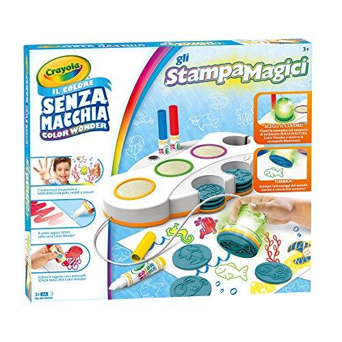 Crayola Color Wonder Gli StampaMagici Set Stampini Colore senza Macchia, 25-0271, 36 mesi -5 anni