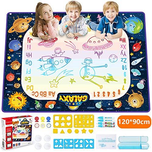JOYSPACE Acqua Doodle Tappeto 120 *90cm Tappeto Magico per Bambini Acqua Doodle Tappetino da Disegno...