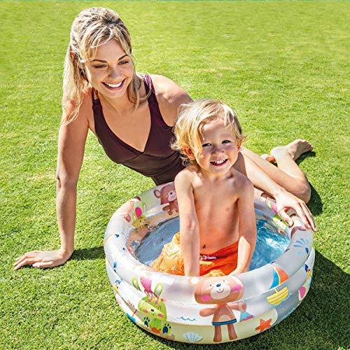 Intex- Piscina Baby Pool 3 Anelli, 61x22 cm, 57106, Colori e modelli assortiti