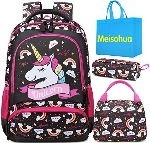 Meisohua Unicorno Zaino Scuola Elementare Impermeabile Zaini Bambino Sacchetti di Scuola Per Ragazze...